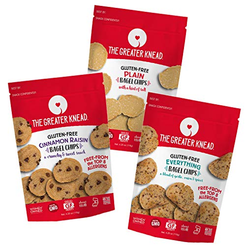 Greater Knead Gluten Free Bagel Chips - Vegan, non-GMO, Free of ...