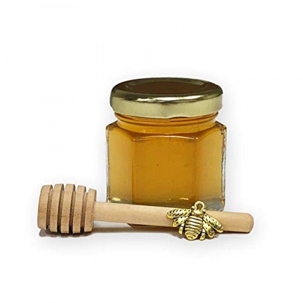 2 oz Honey Wedding, Party, Event Favors with 3 wood honey dippe...