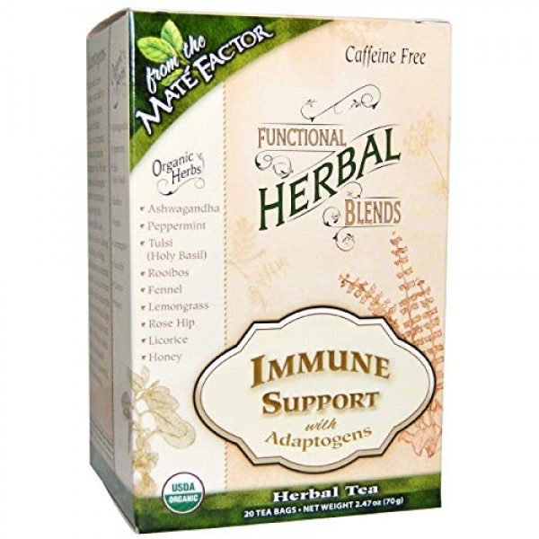 Functional Herbal Blends Tea - Immune Support with Adaptogens 20...
