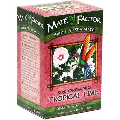 The Mate Factor Yerba Mate Energizing Herb Tea, Tropical Lime, 2...