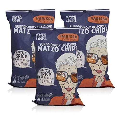 The Matzo Project - Harissa Matzo Chips Large Bags, Kosher, Dair...