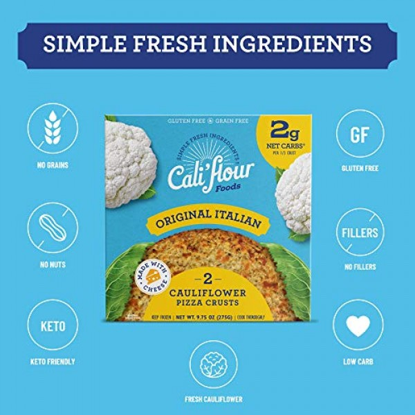 Califlour Foods Pizza Crust Variety Pack, 3 Boxes, 6 Crusts -...