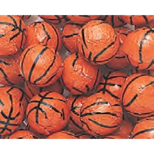 Foiled Milk Chocolate Basketballs 5LB Bag