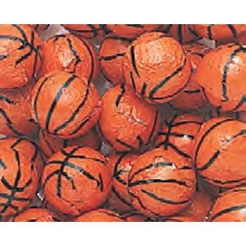 Foiled Milk Chocolate Basketballs 5LB Bag