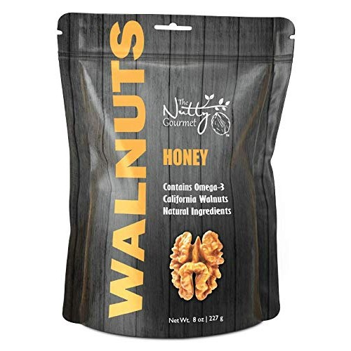 The Nutty Gourmet Honey Flavored Walnuts - Keto Snacks - Healthy...