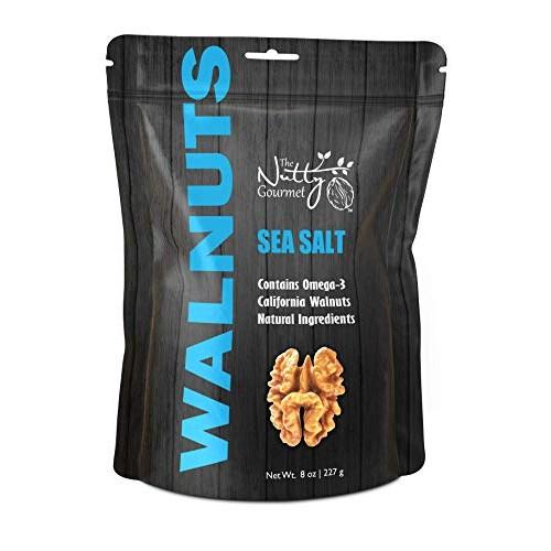 The Nutty Gourmet Sea Salt Flavored Walnuts - Keto Snacks - Heal...