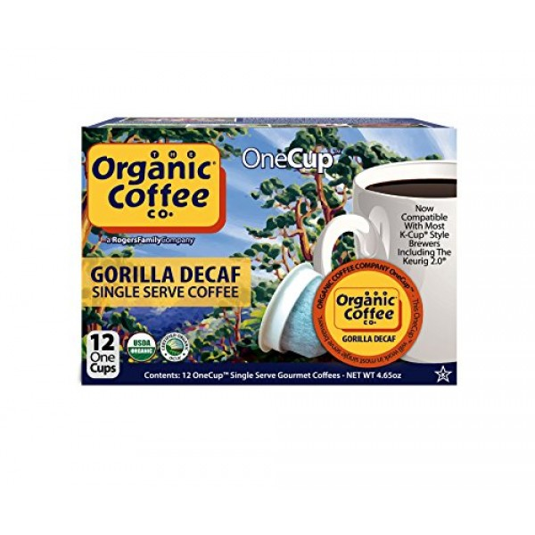 The Organic Coffee Co. Gorilla DECAF 12 Ct Natural Water Process...