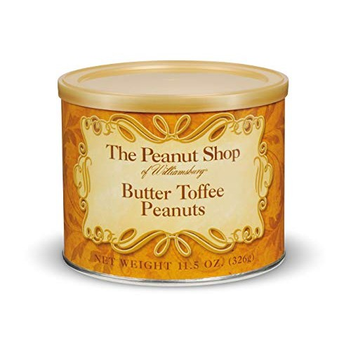 The Peanut Shop of Williamsburg Butter Toffee Peanuts, 10.5 ounces