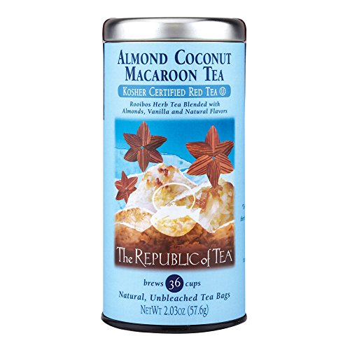 The Republic of Tea Almond Coconut Macaroon Red Rooibos Herbal T...