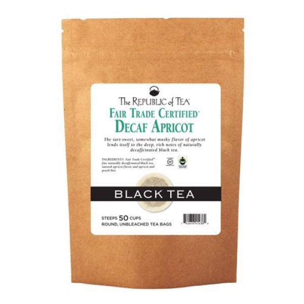 The Republic of Tea Decaf Apricot Black Tea, 50 Tea Bags, Gourme...