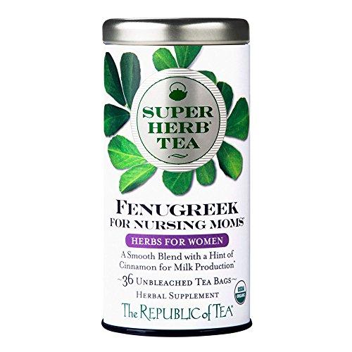 The Republic of Tea Organic Fenugreek SuperHerb Tea For Nursing ...