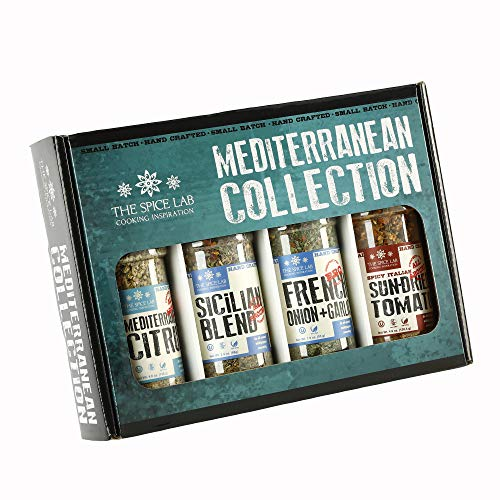 The Spice Lab Mediterranean Spices and Seasonings Set - Ultimate...