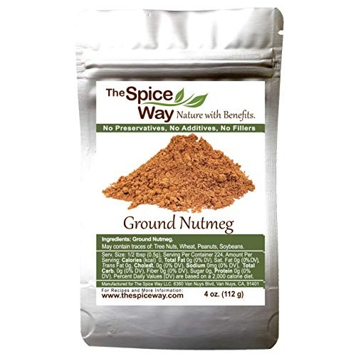 The Spice Way Ground Nutmeg - premium powder - 4 oz resealable bag