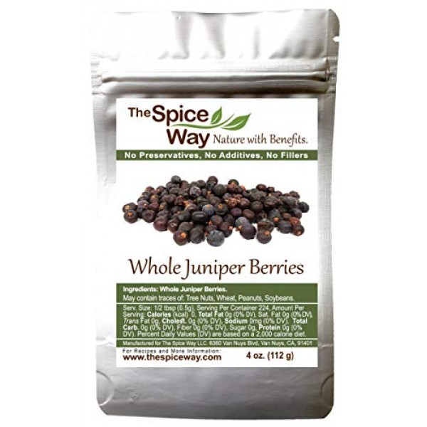 The Spice Way Juniper Berries - Whole berries, pure, no additive...