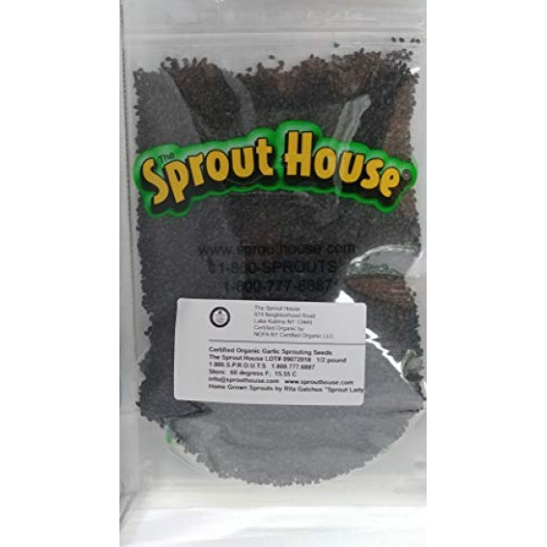 The Sprout House Certified Organic Non-gmo Sprouting Seeds Garli...