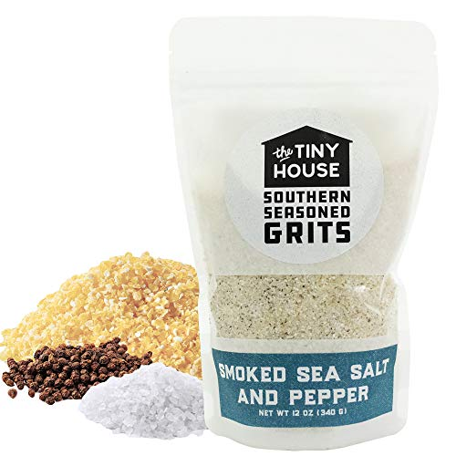 The Tiny House Stone Ground White Corn Seasoned Grits with Hicko...