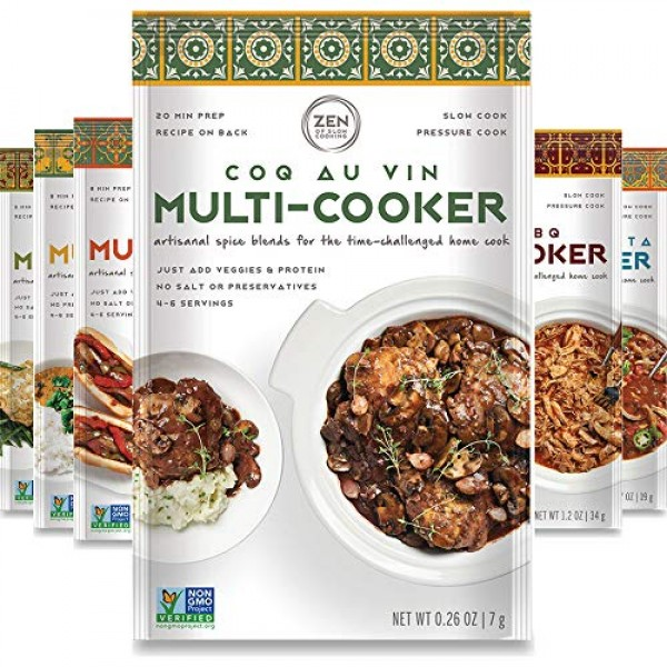 Gourmet Spice Blends for Home Cooking Sampler Pack of 6 Season...