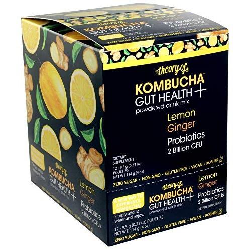 Theory of Kombucha Powdered Drink Mix, Gut Health +, 12 Single-S...