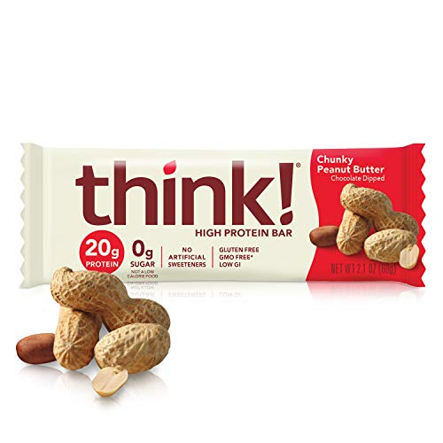 think! thinkThin High Protein Bars - Chunky Peanut Butter, 20g...