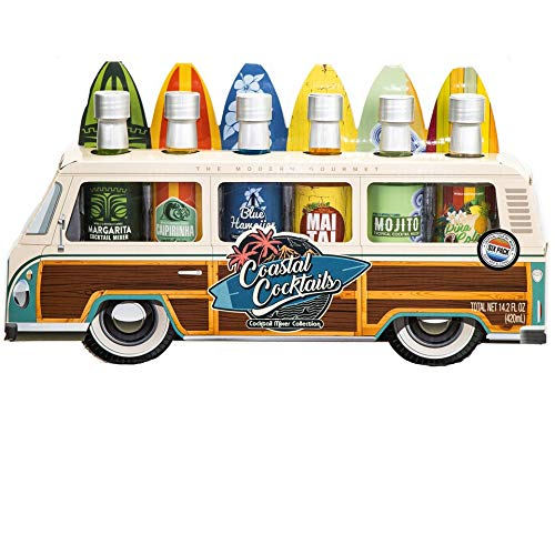 Thoughtfully Gifts, Woody Bus Summer Cocktail Mixers, Includes T...