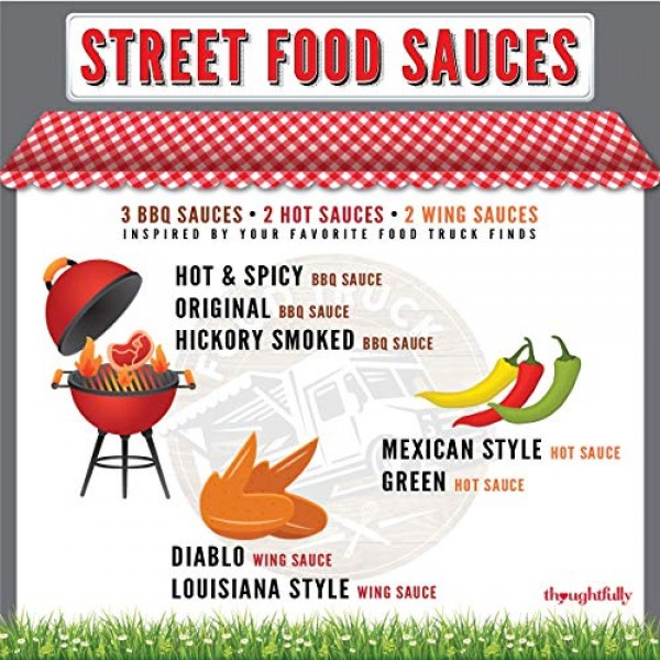 Thoughtfully Gifts, Street Food Sauces, Hot Sauce and BBQ Gift S...