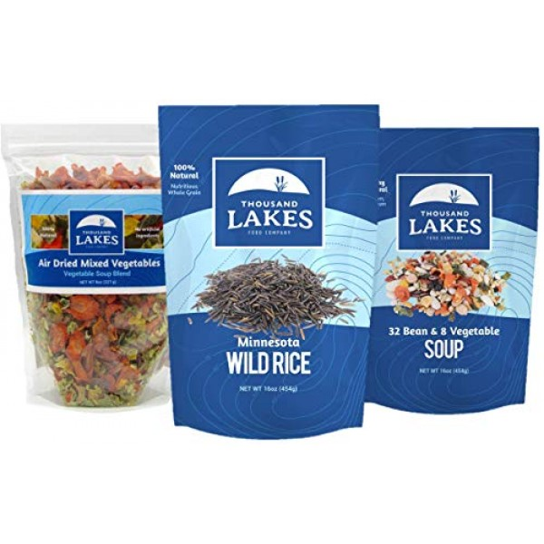 Thousand Lakes Minnesota Wild Rice, Mixed Vegetable Soup Blend, ...