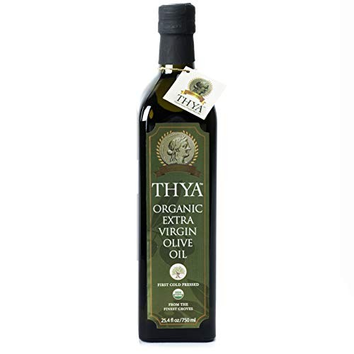 USDA Organic Extra Virgin Olive Oil by THYA, First Cold Pressed,...