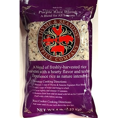 Thyme & Seasons Purple Rice Blend - Black, Cargo, Jasmine, and S...
