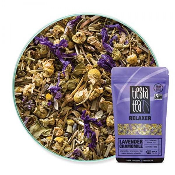 Tiesta Tea Lavender Chamomile, Soft Chamomile Herbal Tea, 30 Ser...