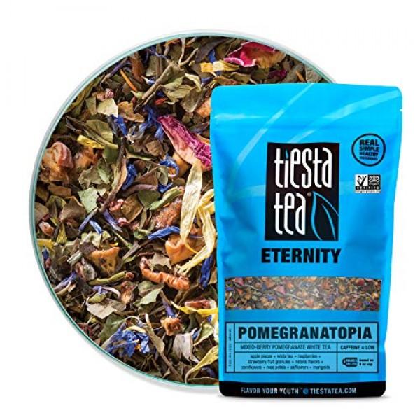 Tiesta Tea Pomegranatopia, Mixed-Berry Pomegranate White Tea, 20...