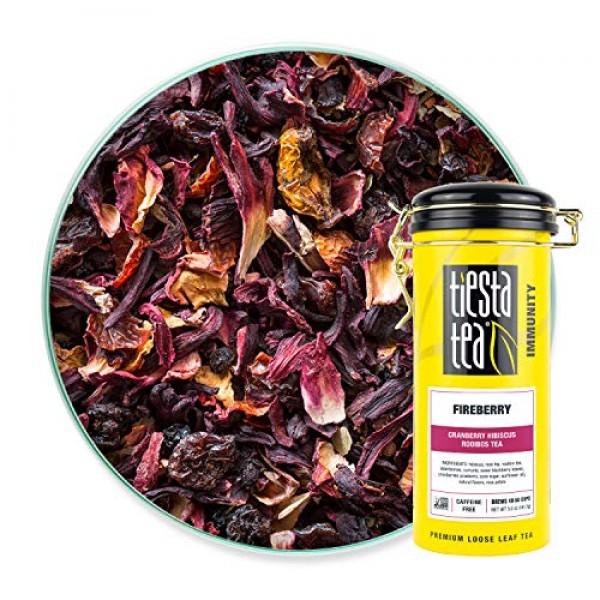 Tiesta Tea - Fireberry, Loose Leaf Cranberry Hibiscus Rooibos Te...