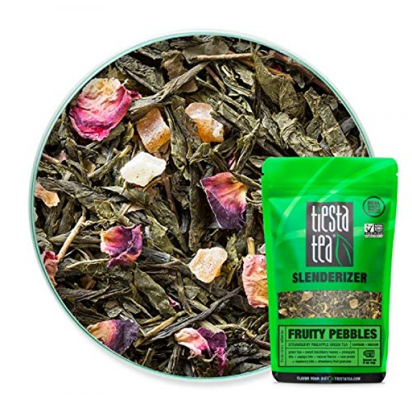 Tiesta Tea, Fruity Pebbles, Strawberry Pineapple Green Tea, 1.6 ...