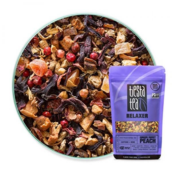Tiesta Tea | Ginger Sweet Peach, Loose Leaf Spicy Peach Herbal T...