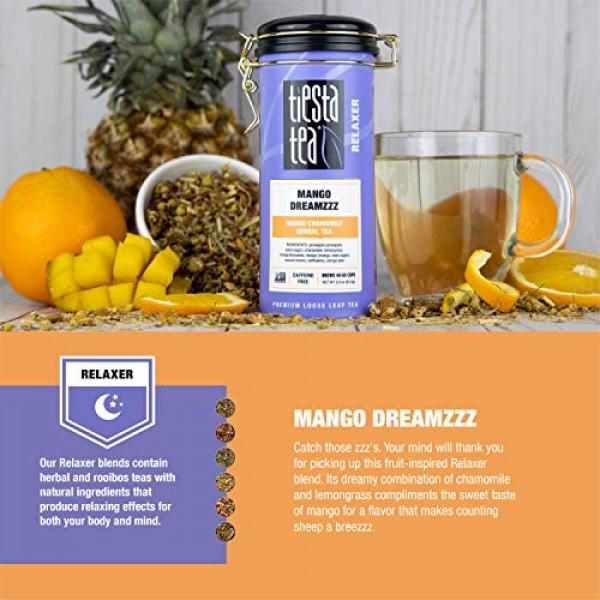 Tiesta Tea | Mango DreamZZZ, Loose Leaf Mango Chamomile Herbal T...