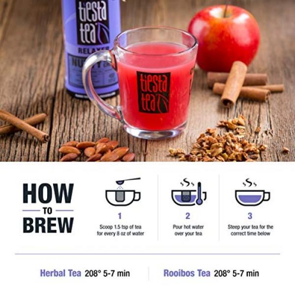 Tiesta Tea | Nutty Almond Cream, Loose Leaf Apple Cinnamon Herba...