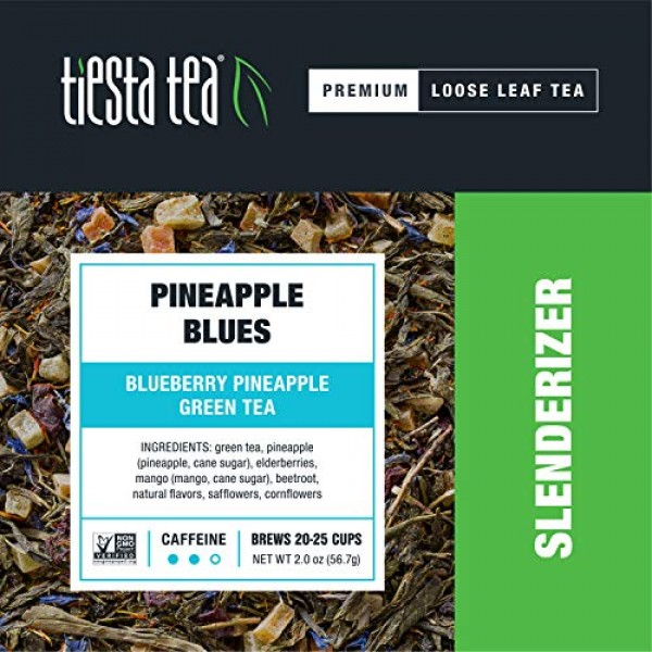 Tiesta Tea   Pineapple Blues, Loose Leaf Blueberry Pineapple Gre...