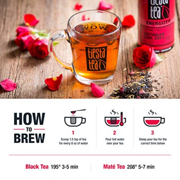 Tiesta Tea | Victorian Earl Grey, Loose Leaf Floral Earl Grey Bl...