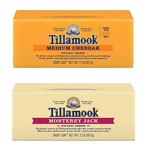 Tillamook Medium Cheddar Cheese & Monterey Jack Cheese Bundle of...
