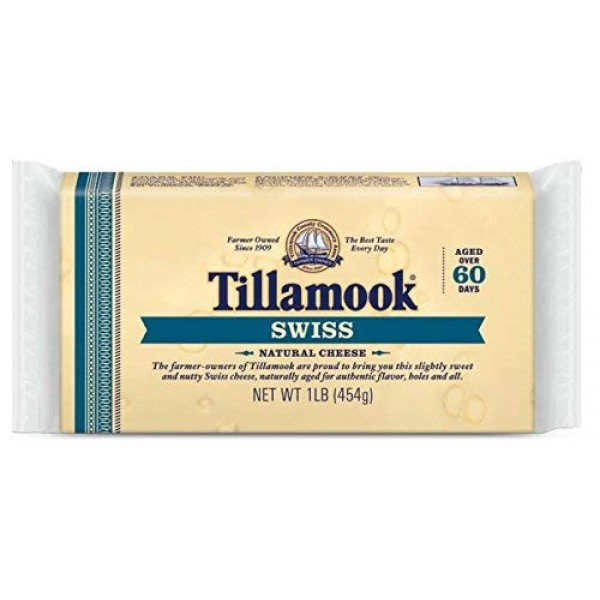 Tillamook Swiss Cheese 1lb Loaf Pack of 2