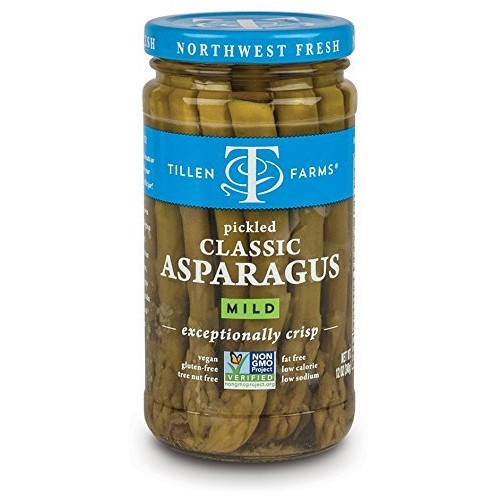 Tillen Farms Pickled Asparagus, 12-Ounce Bottles Pack of 6