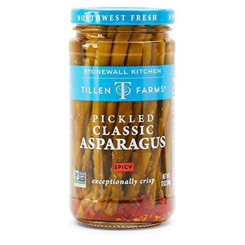 Tillen Farms Veggies, Spicy Pickled Asparagus, 12 Ounce Pack of 6