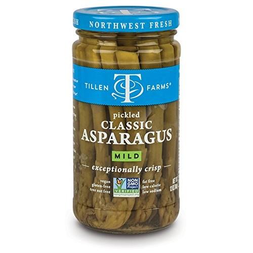 Tillen Farms Veggies, Pickled Crispy Asparagus, 12 Ounce Pack o...