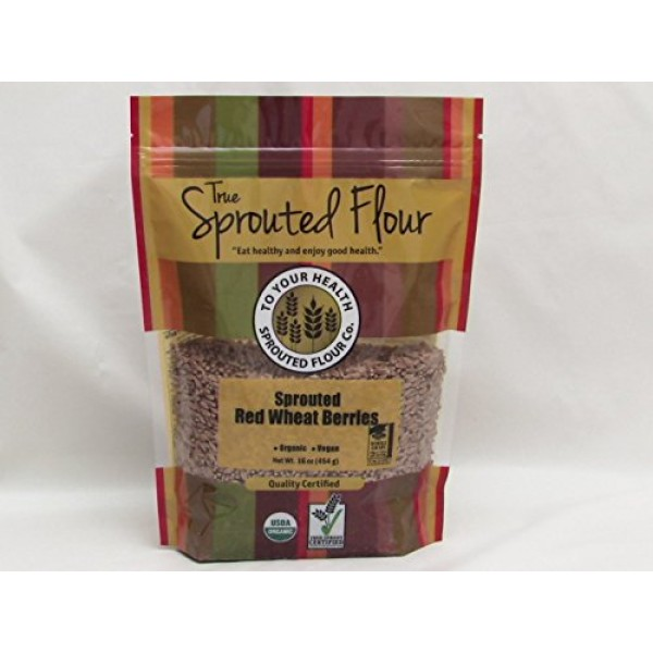 5lb. Organic, Sprouted Red Wheat