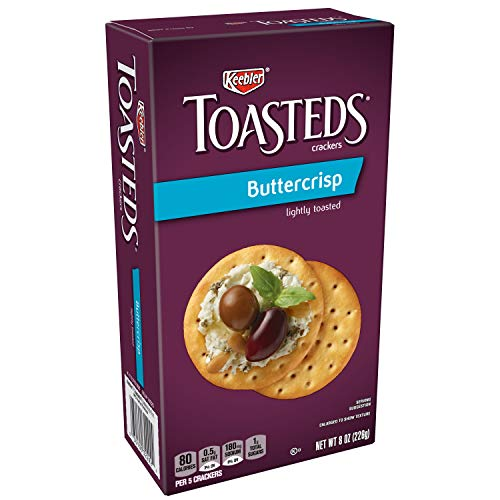 Keebler, Toasteds, Crackers, Buttercrisp, 8 oz