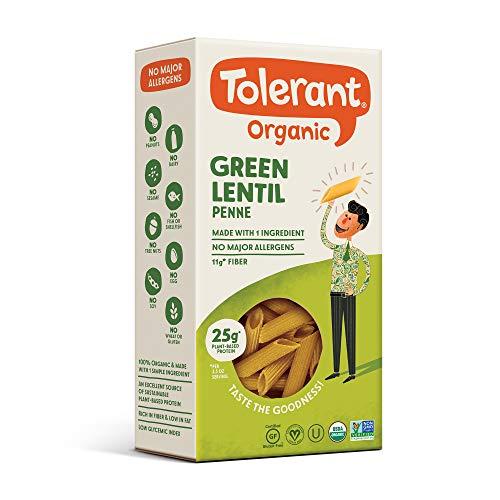 Tolerant Organic Gluten Free Green Lentil Elbow Pasta, One 8 Oun...