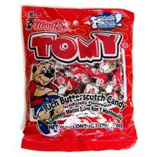 Tomy Rich Butterscotch Candy, 5 oz bags Pack of 6