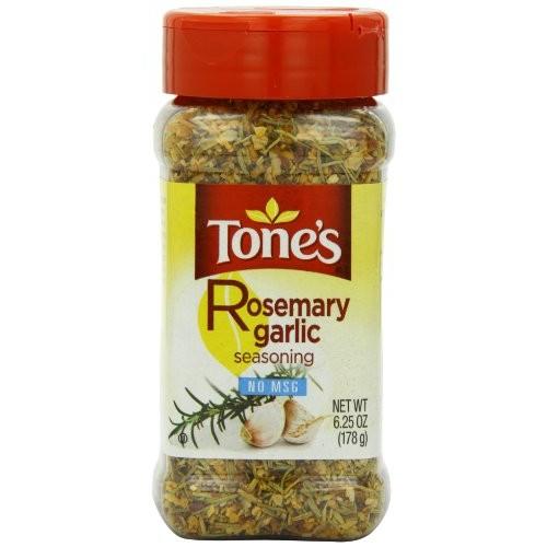 Tones Seasoning, Rosemary Garlic, 6.25 Ounce