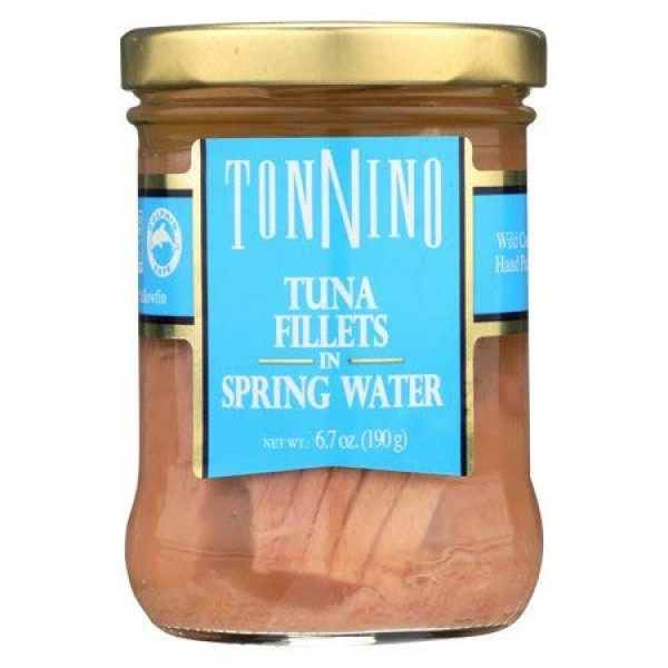 Tonnino Tuna Fillet in Spring Water 6.7 ounces Pack of 6