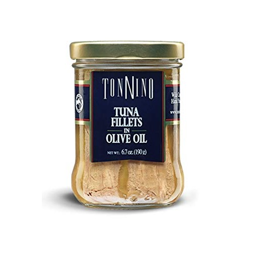 Tonnino Tuna Fillets Low Calorie and Gluten Free Yellowfin Jarre...