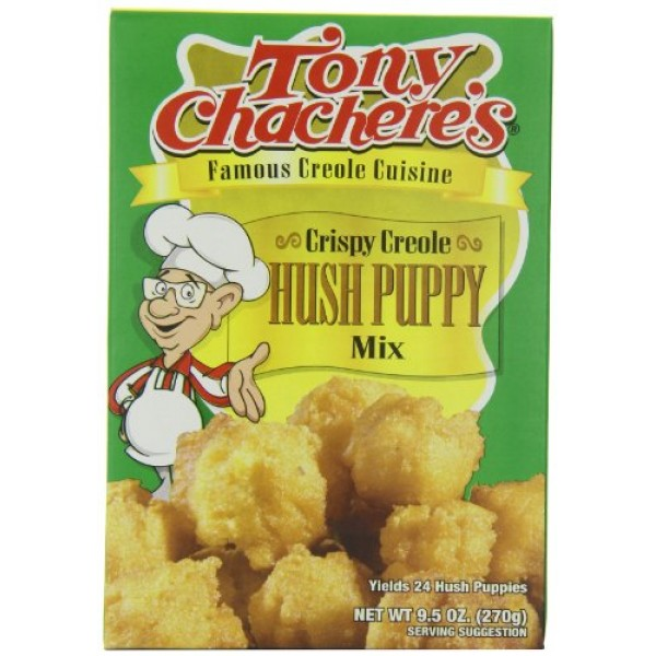 Tony Chacheres Creole Hush Puppy Mix, 9.5-Ounce Bags Pack of 12